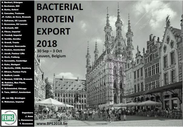 BACTERIAL PROTEIN EXPORT – 30 September – 03 October 2018 • Leuven • Belgium