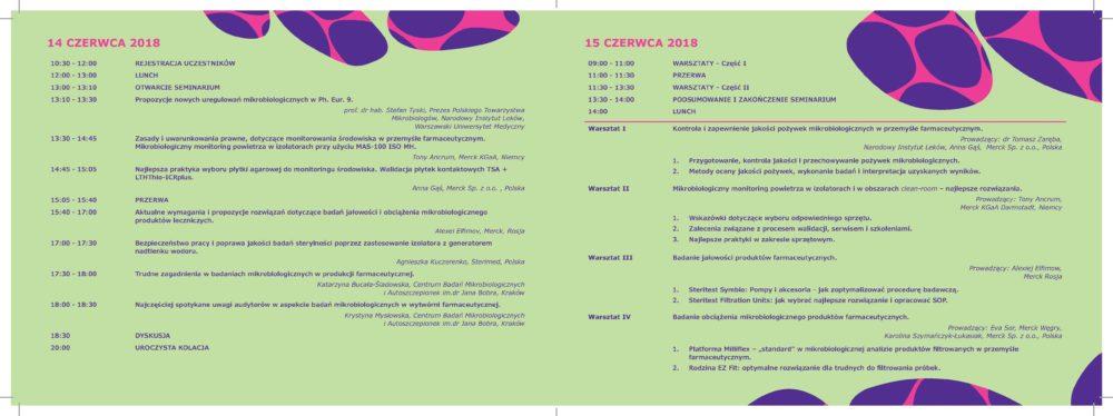 """Seminarium: """"Nowe rozwiązania w badaniach mikrobiologicznych preparatów leczniczych i środowiska produkcji farmaceutycznej"""" 14-15 czerwca 2018"""